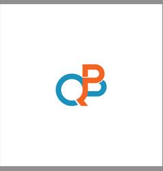 Q b letter logo design on black color background vector