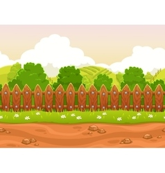 Seamless cartoon country landscape vector