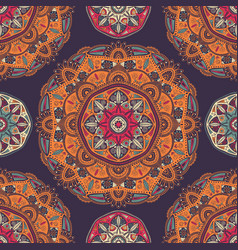Seamless pattern with ornamental floral ethnic vector