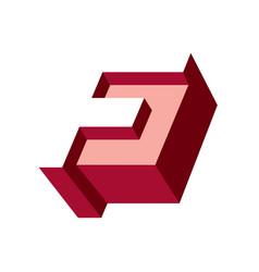 Sign letter f vector