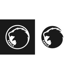 silhouette an eagle monochrome logo vector image