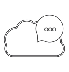 silhouette cloud with red dialog with white vector image