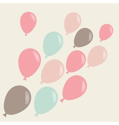 simple background with flying ballons vector image