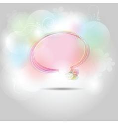 speech bubble shapes vector image