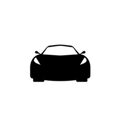 sport car front view icon element of popular car vector image