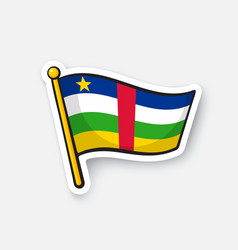 sticker national flag central african republic vector image