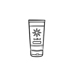 sunscreen hand drawn outline doodle icon vector image