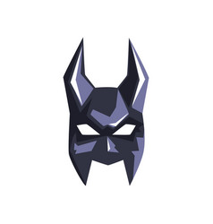 Superhero mask with horns on a vector