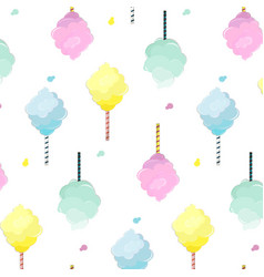 Sweet cotton candy pattern cute food texture vector