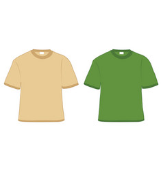 t-shirt khaki and green vector image