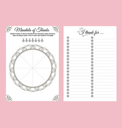 Thank day notebook planner vector