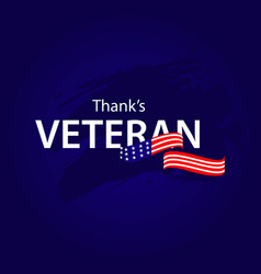 Thanks veteran template design vector