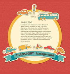 transportation colored background vector image