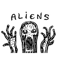 Ugly jelly-like alien vector