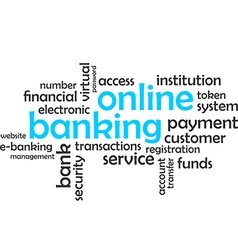 Word cloud online banking vector