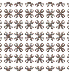 Wrench tool pattern background vector