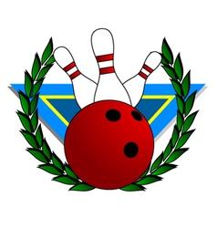 bowling alley symbol vector image