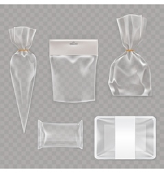 Collection mock up packaging for food and snack vector image vector image