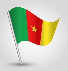 flag cameroon vector image