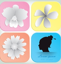 Beautiful Flowers Design For Spa Background And vector image