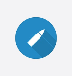 bullet Flat Blue Simple Icon with long shadow vector image vector image