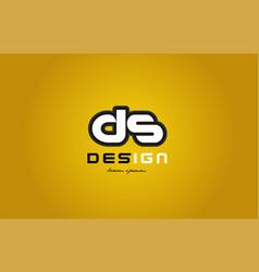 ds d s alphabet letter combination digit white on vector image vector image