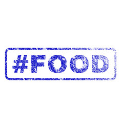hashtag food rubber stamp vector image vector image