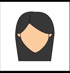 people avatar face woman icon vector image vector image