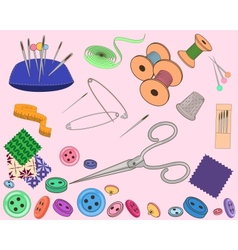 Sewing stuff set vector image