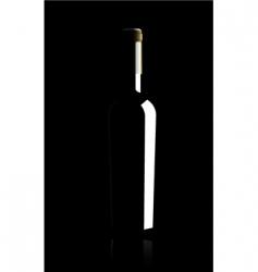 Wine bottle vector illustratio vector