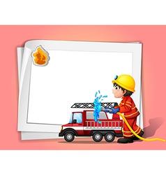 A fireman vector image vector image