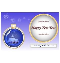 card christmas vector image vector image