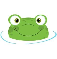 Cute frogs head vector image vector image