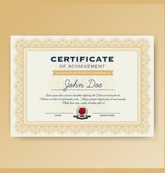 Elegant certificate of achievement vector