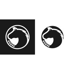 Silhouette of an horse monochrome logo vector image vector image
