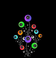 stylized flowers abstract design vector image vector image