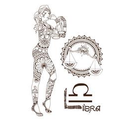 Stylized zodiac sign of libra vector