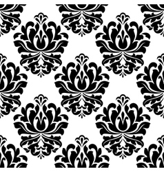 Symmetrical floral endlessly tracery vector