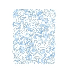 Abstract christmas pattern sketch for your design vector image