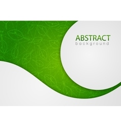 Abstract green background with leaves vector image