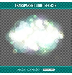 Bokeh lights over transparent background Bokeh vector image