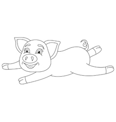 cute pig coloring book vector image vector image