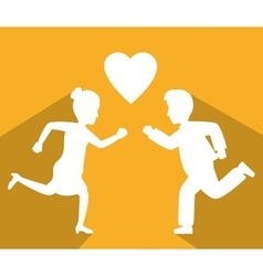 Online love and crush vector image