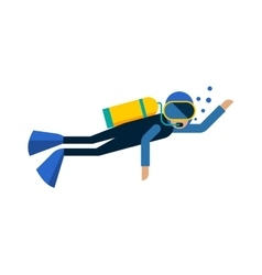Scuba diver isolated equipment water sport vector image