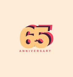 65 years anniversary template design vector
