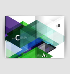 Abstract background with color triangles annual vector