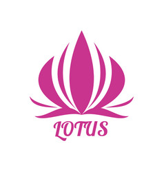 abstract lotus flower logo design vector image