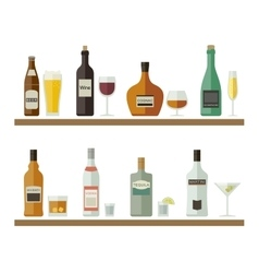 Alcoholic beverages and drinks vector