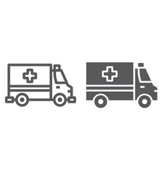 ambulance line and glyph icon emergency vector image