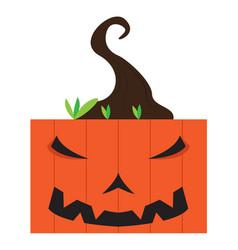 Angry halloween cartoon pumpkin avatar vector